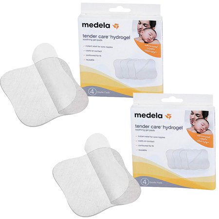 Tender Care Hydrogel Pads, 2 Pack, Cools on contact for instant relief for sore nipples By Medela