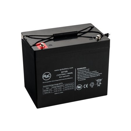Quickie Design P200 12V 75Ah Wheelchair Battery - This is an AJC Brand (P200 Replacement)