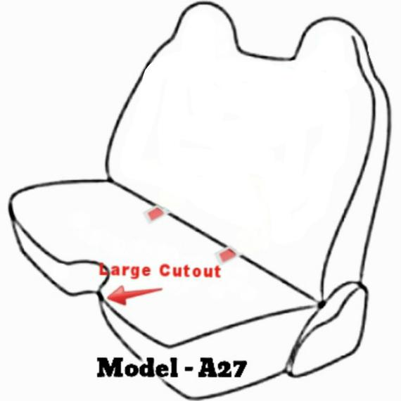 A27 Toyota Pickup 1989 - 1995 Front Solid Bench Premium 10mm Thick Seat Covers Molded Headrest Large Notched Cushion Custom Made for Exact Fit Charcoal, Dark Gray
