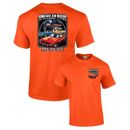 Dodge T-Shirt American Made Muscle-orange-xxxl American Made Tee Shirts