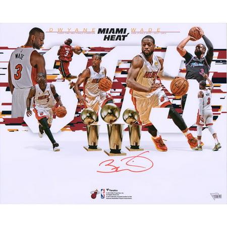 Dwyane Wade Miami Heat Autographed 16