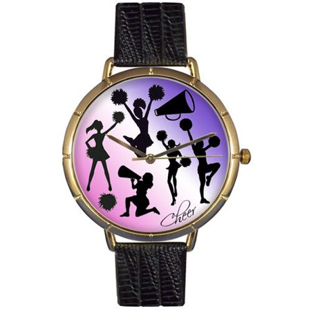 Cheerleading Lover Photo Watch Large Gold