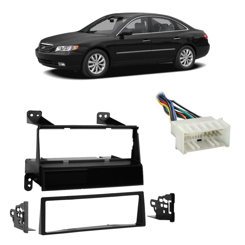 Car Radio Stereo Single Din Install Dash Kit Trim Bezel for 1996-2006 Hyundai