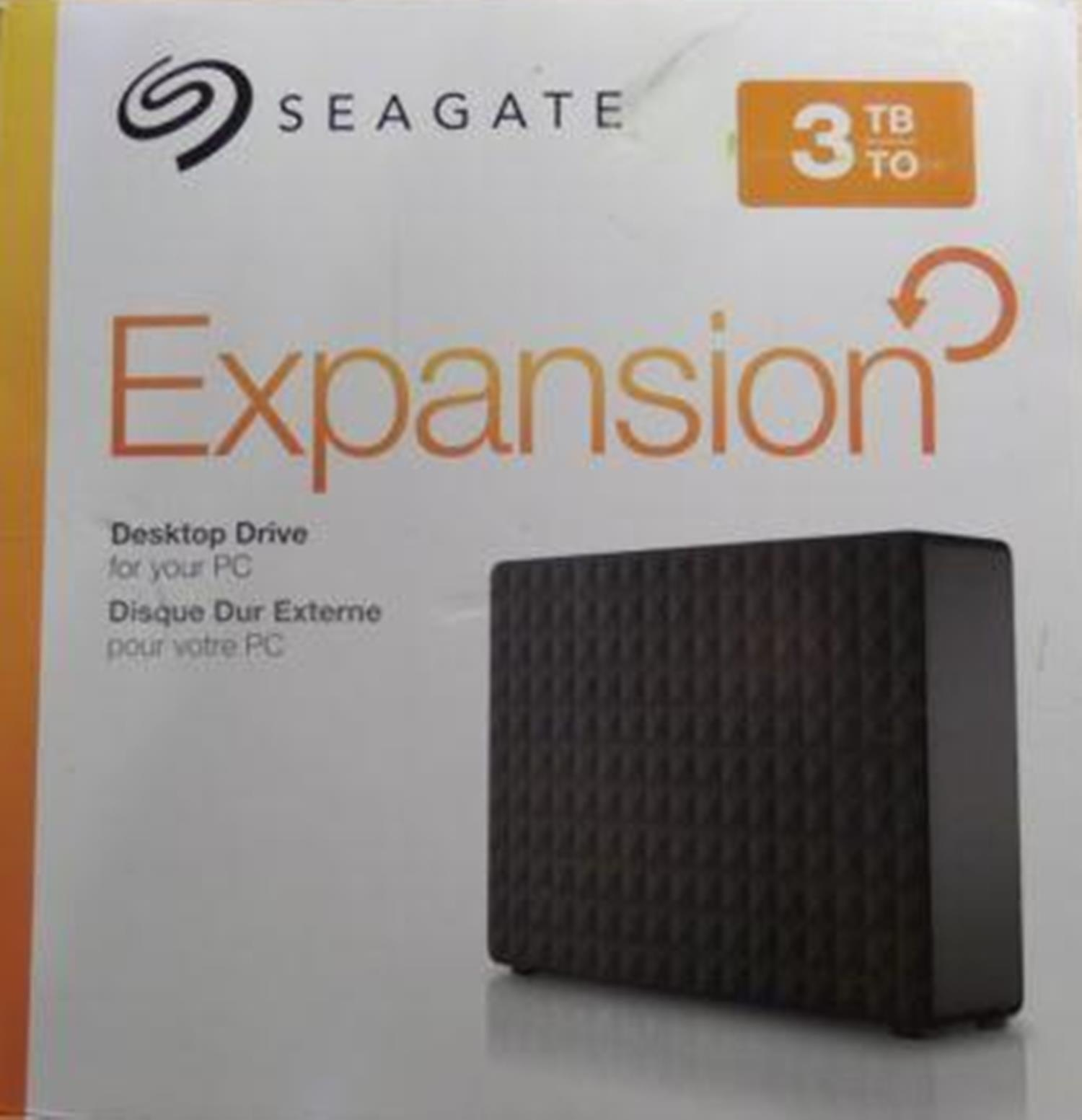 Seagate Expansion 3TB USB 3.0 Desktop External Hard Drive STEB3000100 Black