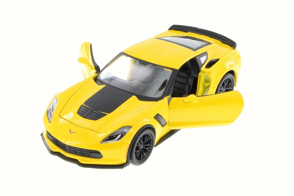 2015 Chevy Corvette Z06, Yellow Maisto 34133 1 24 Scale Diecast Model Toy Car (Brand but... by Maisto