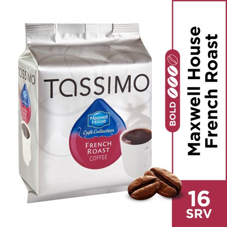 Maxwell House Café Collection French Roast Coffee T-Discs for Tassimo Brewing System, 16 count (French Curve Collection)