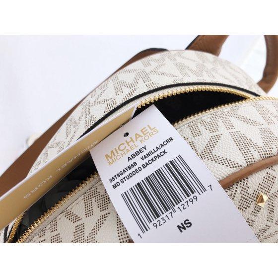f931e5fb8afa3 Michael Kors - Abbey Medium Backpack Vanilla MK Signature Studded Acorn -  Walmart.com
