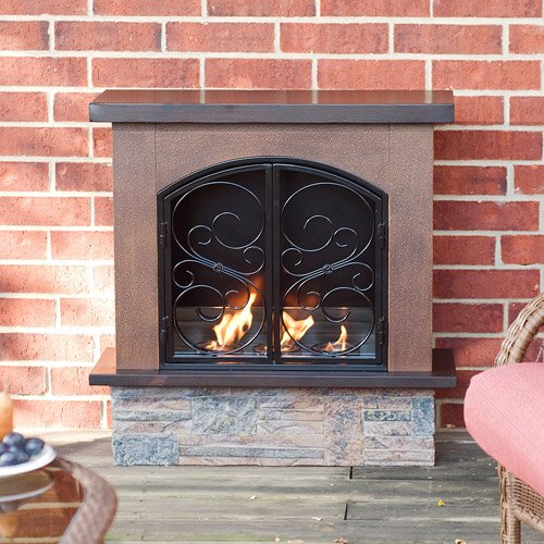 rustic portable indoor outdoor fireplace walmartcom