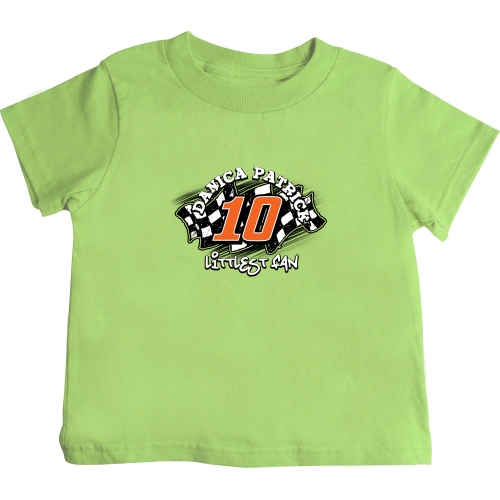 Checkered Flag Danica Patrick Toddler Littlest Fan T-Shirt - Green