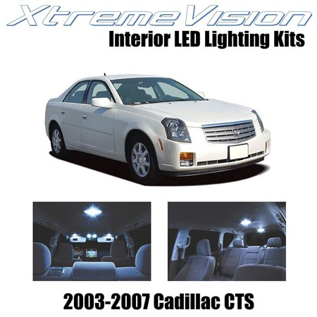 XtremeVision LED for Cadillac CTS 2003-2007 (5 Pieces) Cool White Premium Interior LED Kit Package + Installation Tool (Cadillac Cts Interior)