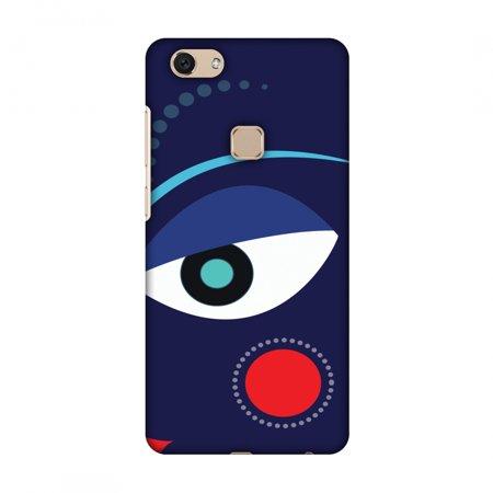 Vivo V7 Case, Premium Handcrafted Designer Hard Shell Snap On Case Printed Back Cover with Screen Cleaning Kit for Vivo V7, Slim, Protective - Divine Goddess - Blue (Goddess Blue)