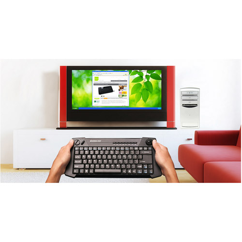 IOGEAR PC-to-TV Kit with Wireless Multimedia Keyboard, Black