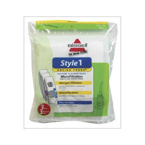 BISSELL Style 7 Enviro Fresh MicroFiltration Dust Bags (30861) - Bag for vacuum cleaner - for PowerGlide Platinum Vacuum 3545-2