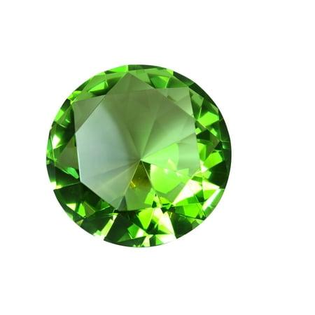 Tripact 100 mm Light Green Diamond Shaped Jewel Crystal Paperweight