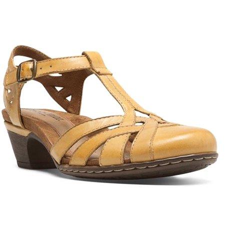 cca0aa95d20 Womens Cobb Hill AUBREY Sandals Leather Shoes Medium Yellow CBD12YL