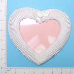 Expo Int'l Bridal Pleated Satin Heart with Bow Frame