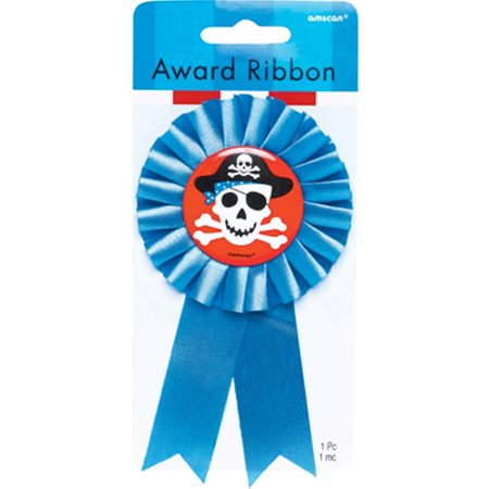 Pirate Party 'Pirates Treasure' Guest of Honor Ribbon (1ct) (Pirate Ribbon)