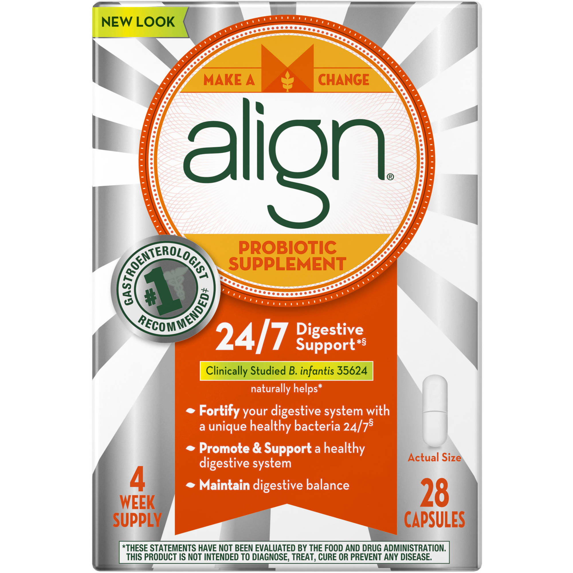 Align Probiotic Supplement Capsules, 28 Count