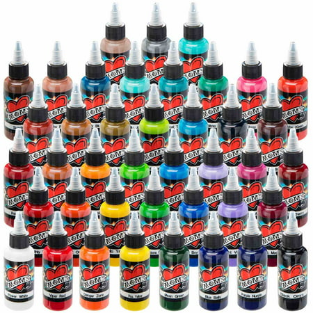 Millennium mom 39 s tattoo ink 41 color set for Cheap moms tattoo ink