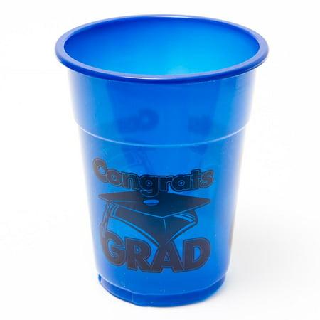 Graduation Cups (Congrats Grad Blue 16 oz. Plastic)