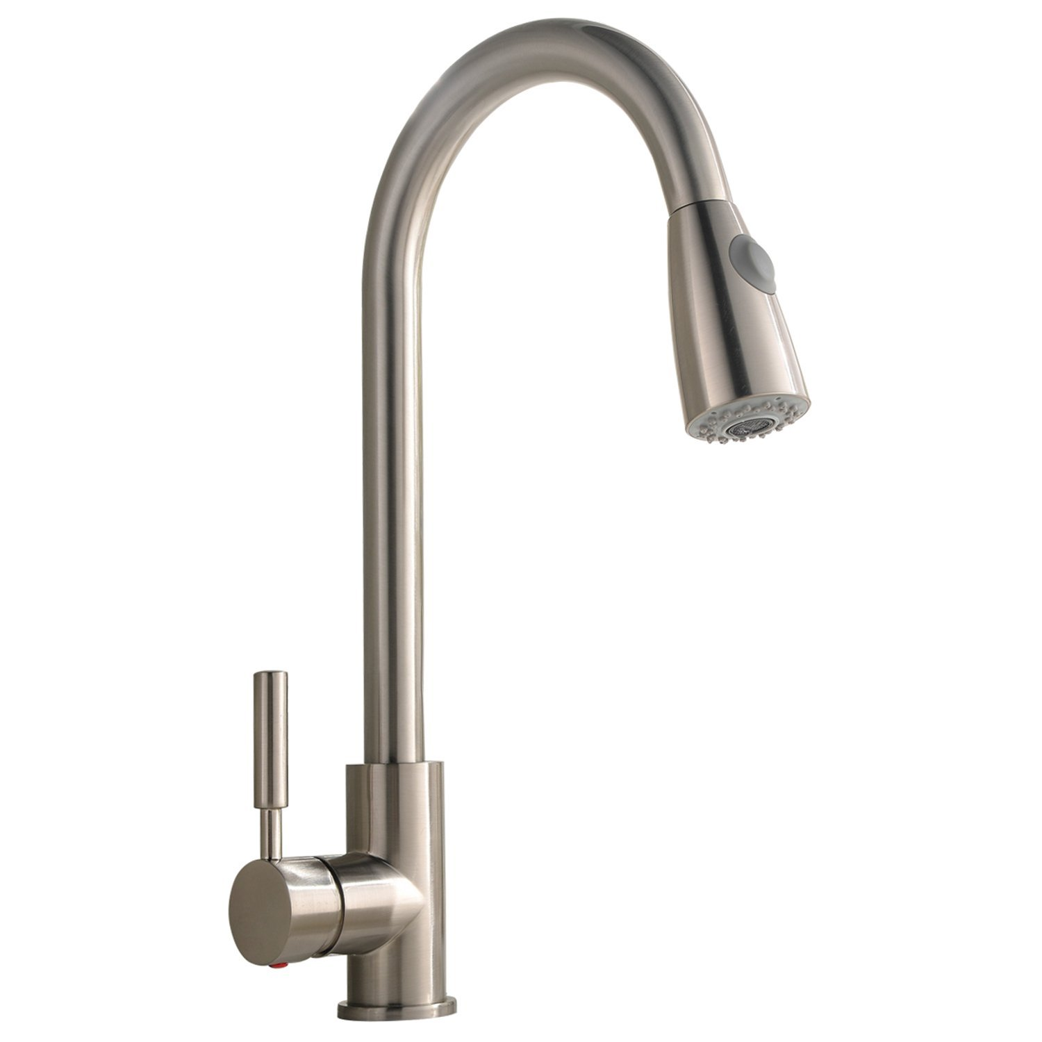 Zimtown Commercial Single Handle Pull Down Kitchen Faucet
