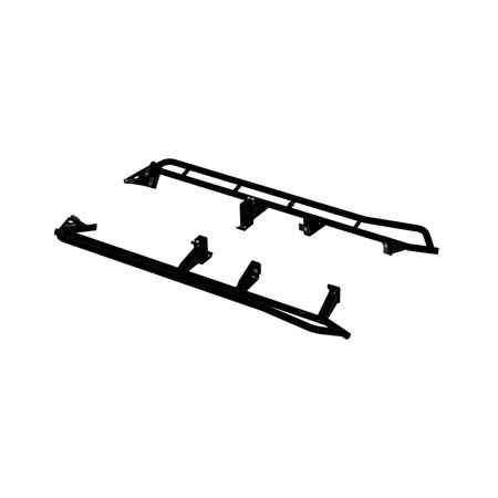 Mbrp Exhaust 183519 Rock Rail Kit   120 In  Thick Walled Tubing  3 16 In  Fully Welded Mounting Brackets  Black Powder Coating