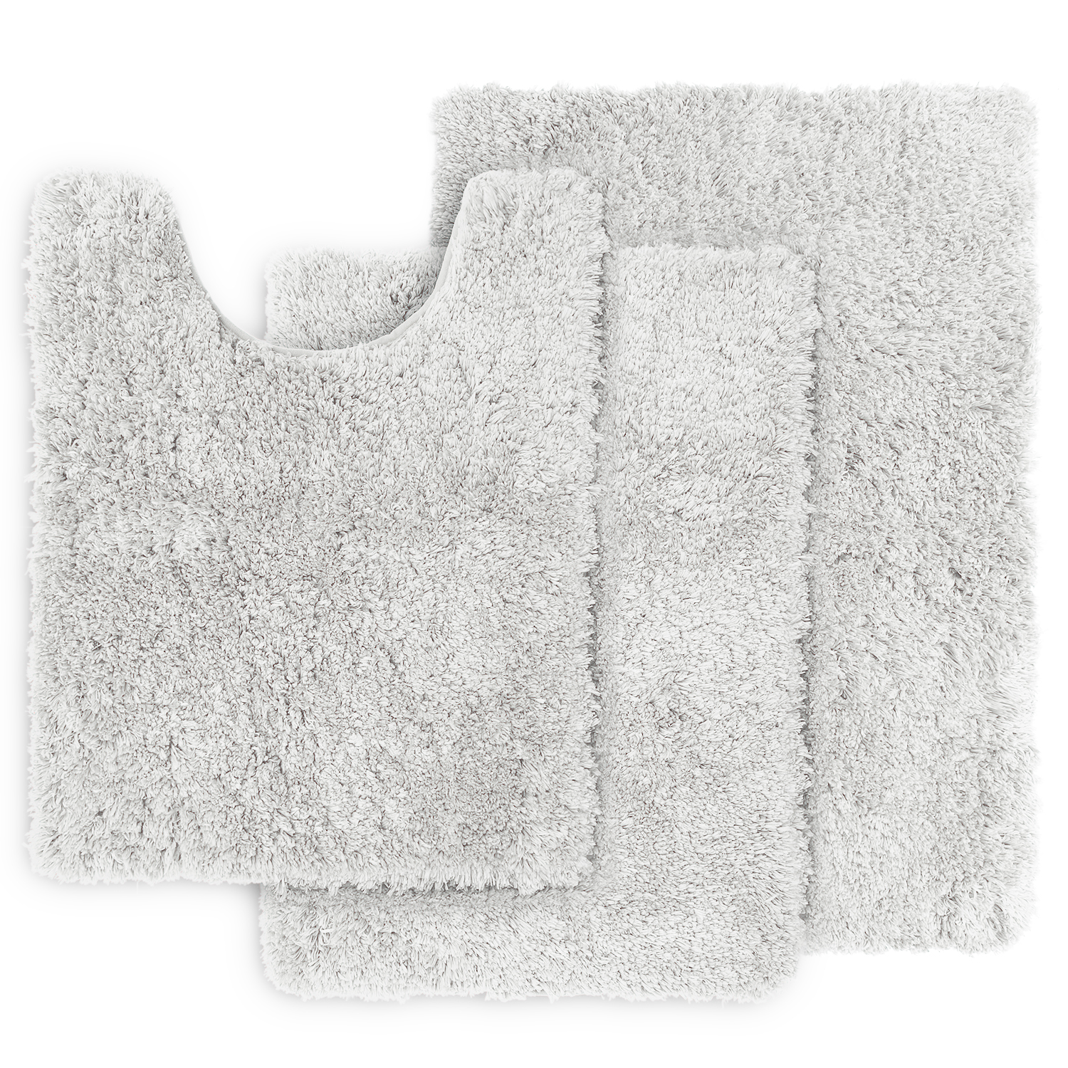 Clara Clark Set of 3 Shaggy Bath Rug with Non-Slip Backing ...