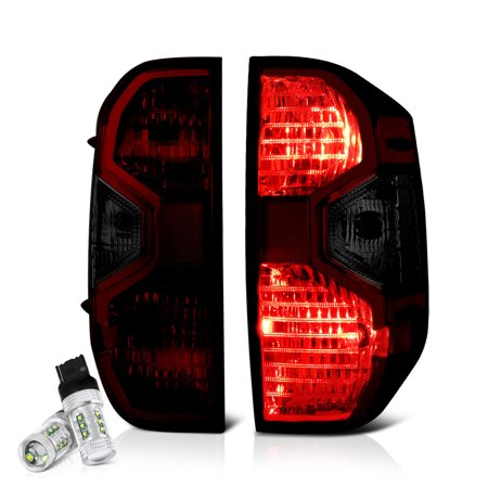 VIPMOTOZ Smoke Red Lens OE-Style Tail Light Lamp Assembly For 2014-2019 Toyota Tundra Pickup
