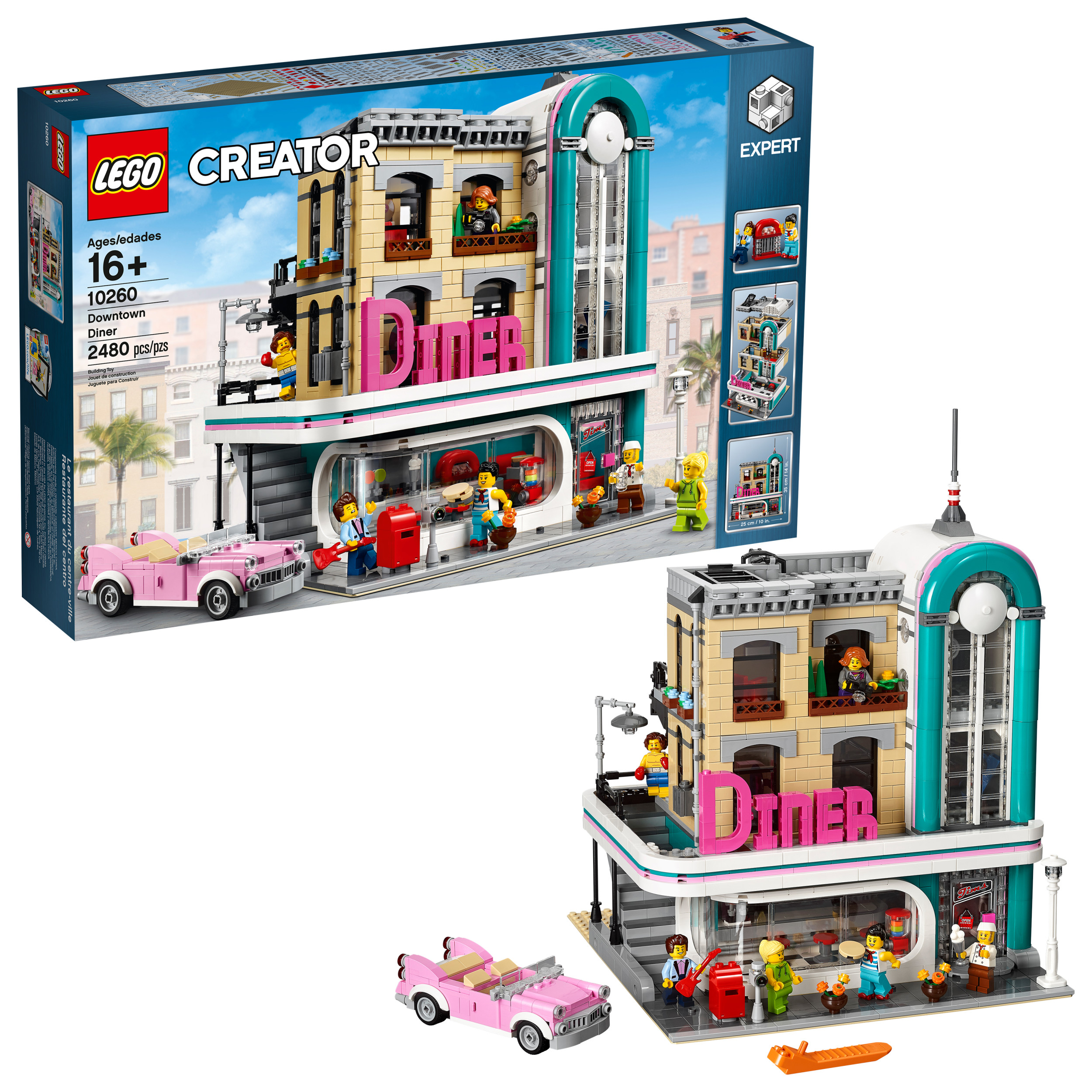 Lego Creator Expert Downtown Diner 10260 Building Kit, Model Set and Assembly Toy for Kids and Adults (2480... by LEGO System Inc