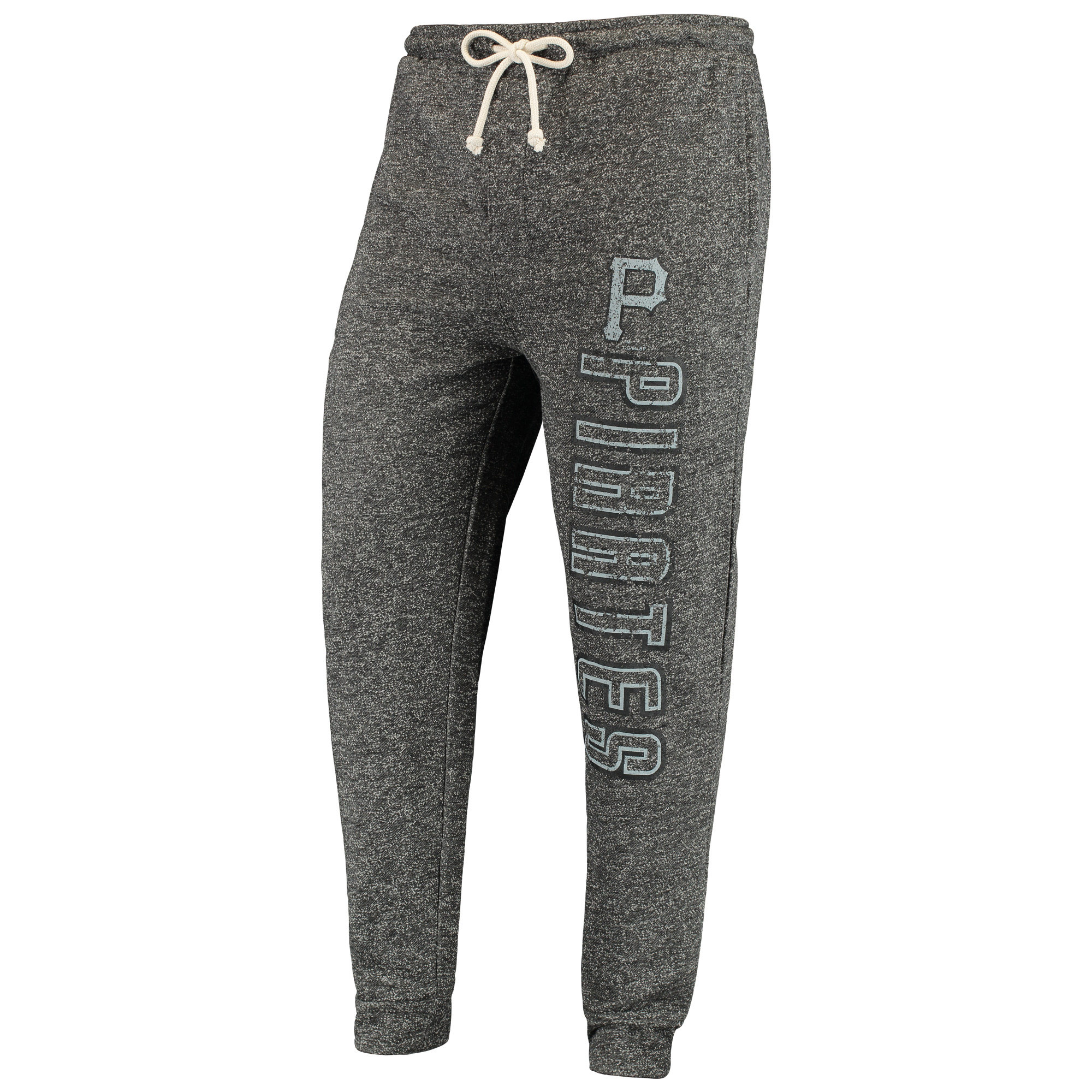 Pittsburgh Pirates Concepts Sport Pinpoint French Terry Cuffed Pant - Charcoal