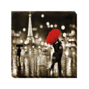Artistic Home Gallery 'Paris Kiss' by Kate Carrigan Graphic Art on Wrapped Canvas