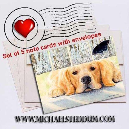 Get It Golden Retriever Note Card Set Golden Retriever Note Cards