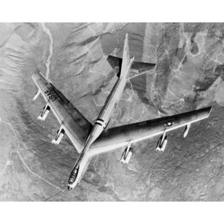 Jet Engine Fuel (High angle view of a military plane Suspended Jet Engines External Fuel Tanks US Air Force Poster Print )