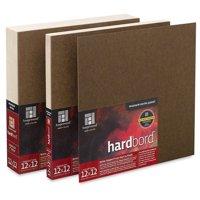 Ampersand Hardbord Panel Pack - 6'' x 8'', 1/8'' Flat Panels, Pkg fo 3