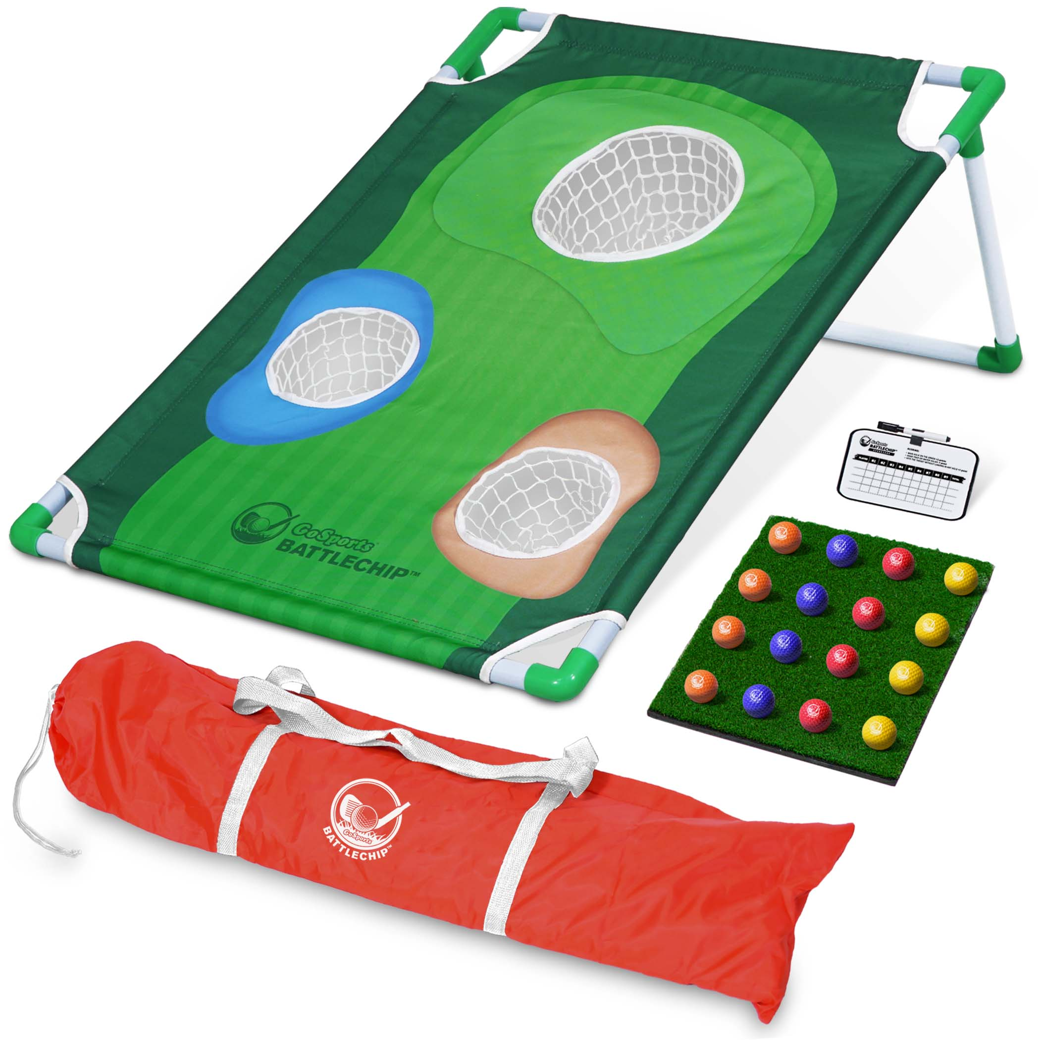 GoSports BattleChip Backyard Golf Cornhole Game | Includes Chipping Target, 16 Foam Balls, Hitting Mat and... by P&P Imports