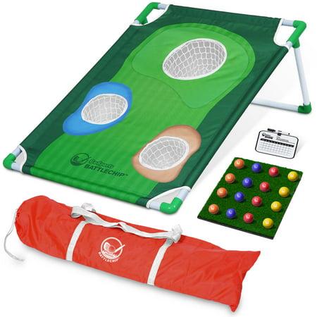 GoSports BattleChip Backyard Golf Cornhole Game | Includes Chipping Target, 16 Foam Balls, Hitting Mat and Carrying Case ()