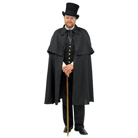 Dickens Black Cape Adult Halloween Accessory