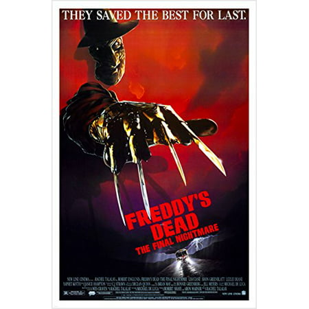 Freddy'S Dead The Final Nightmare Vintage Horror Movie Poster Bloody 24X36 (Reproduction, Not An Original)
