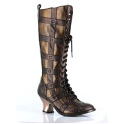 Hades Shoes H-Dome 2 inch Lace-up Retro Knee Boot Brown / 8