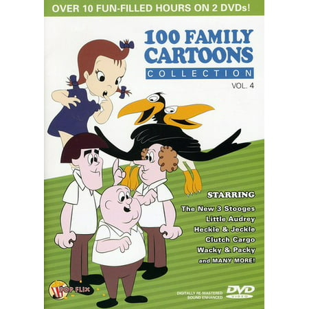 100 Family Cartoons Collection, Vol. 4 (DVD) (Top 100 Best Cartoons)