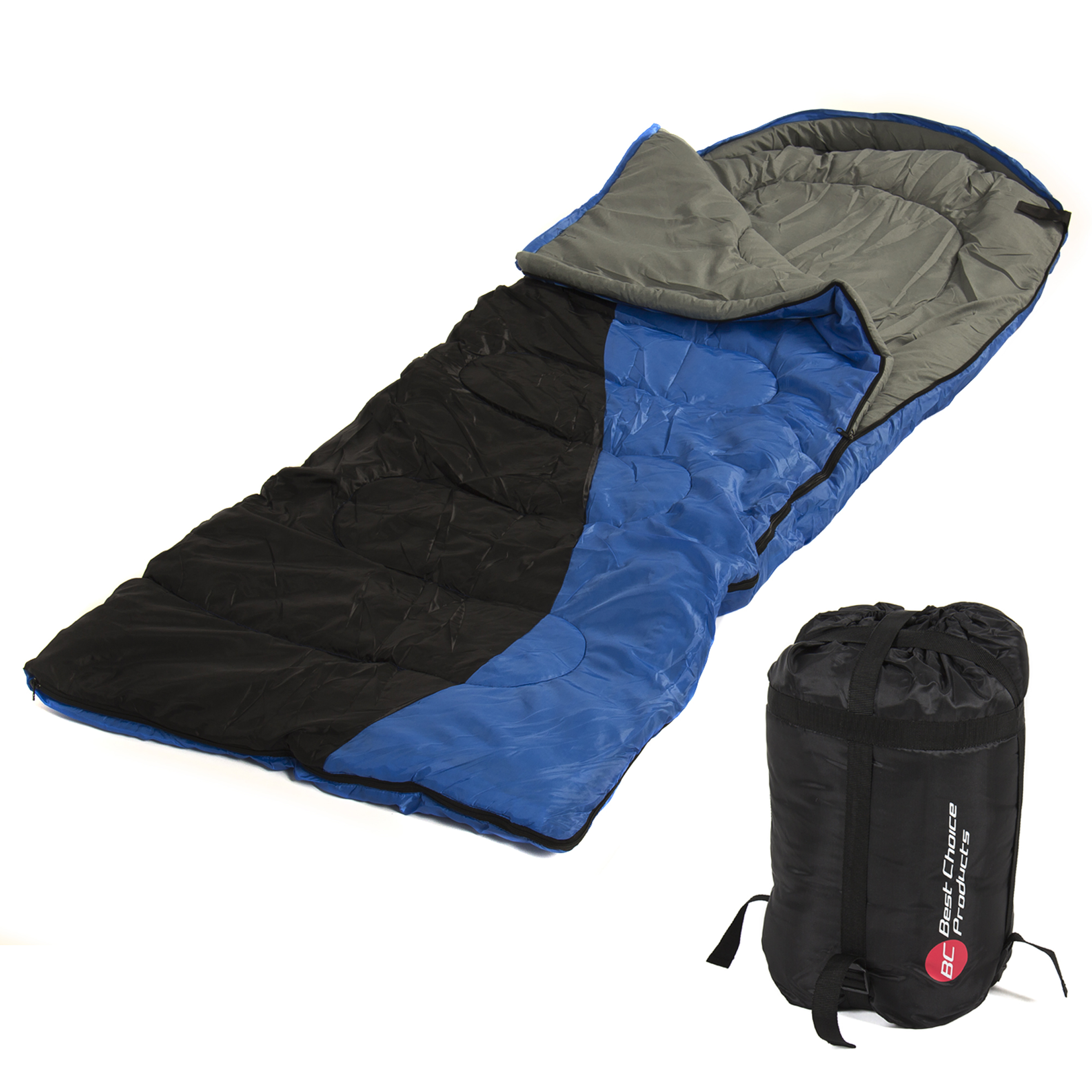 "Single Sleeping Bag 23F -5C 2 Camping Hiking 84""x 55"" W Carrying Case New by"