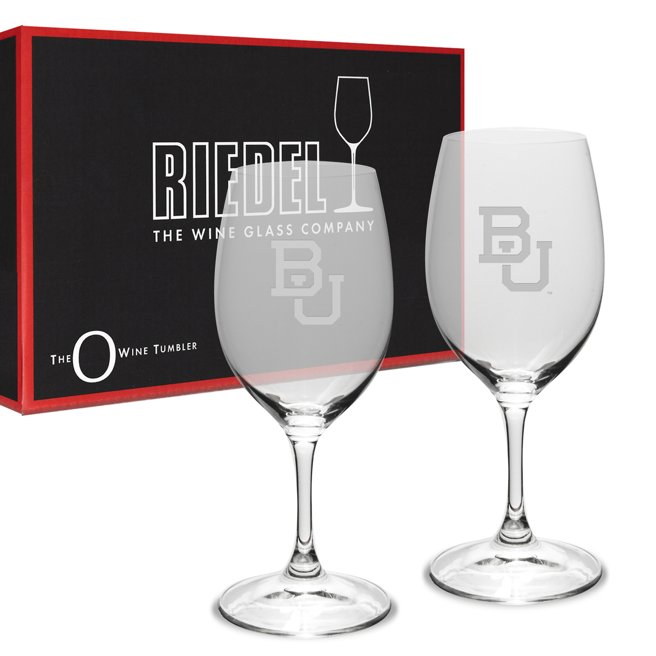 Boston University Deep Etched Riedel - 10 oz. Deep Etched White WINE GLASS