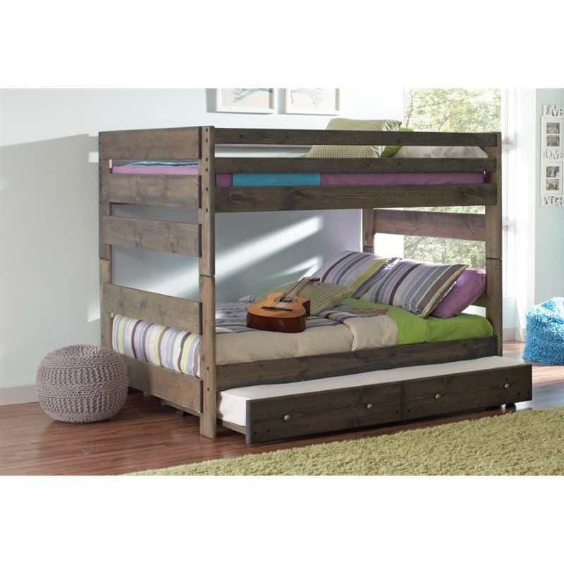 Coaster Wrangle Hill Full Over Full Bunk Bed With Trundle