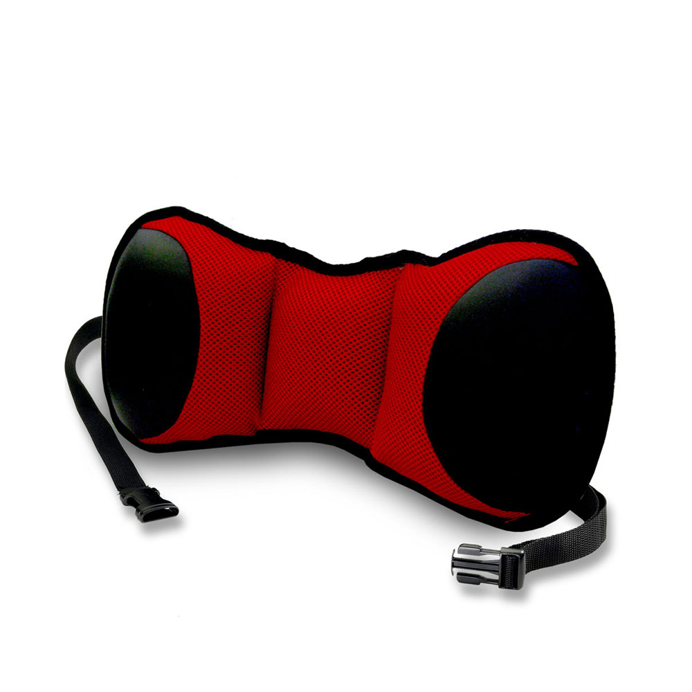 FH GROUP Portable Lumbar Cushion with Strap, Red