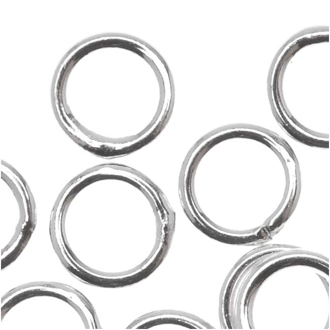 Silver Plated Closed 6mm Jump Rings 18 Gauge (20)