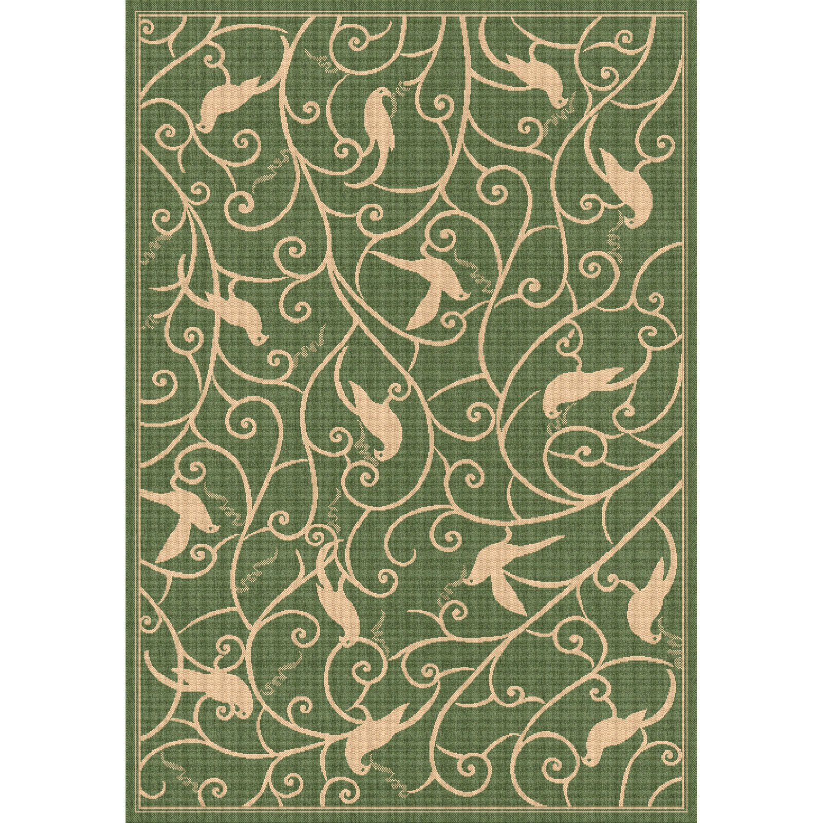 Dynamic Rugs Piazza Partridge Indoor/Outdoor Area Rug - Green