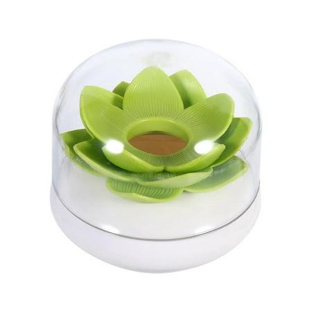 Lv. life 2 Color Bloss Cotton Swab Holder Q-tip Storage Lotus Organizer Box Clear Lid -