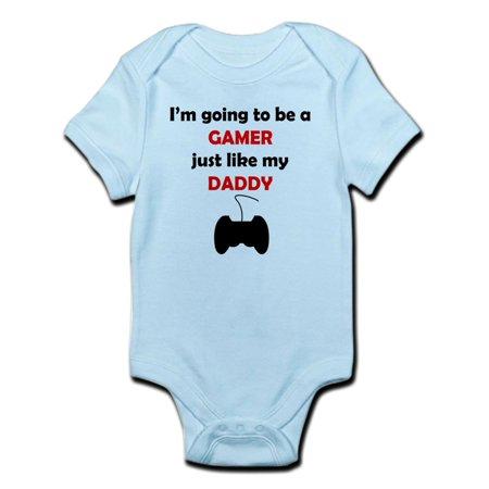 CafePress - Gamer Like My Daddy Body Suit - Baby Light Bodysuit (Big Daddy Suit)