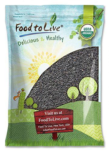 Organic Black Sesame Seeds, 8 Pounds – Raw, Unhulled, Non-GMO, Kosher, Vegan, Bulk, Kala Til – by Food to Live