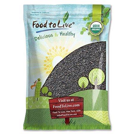 Organic Black Sesame Seeds, 8 Pounds - Raw, Unhulled, Non-GMO, Kosher, Vegan, Bulk, Kala Til - by Food to